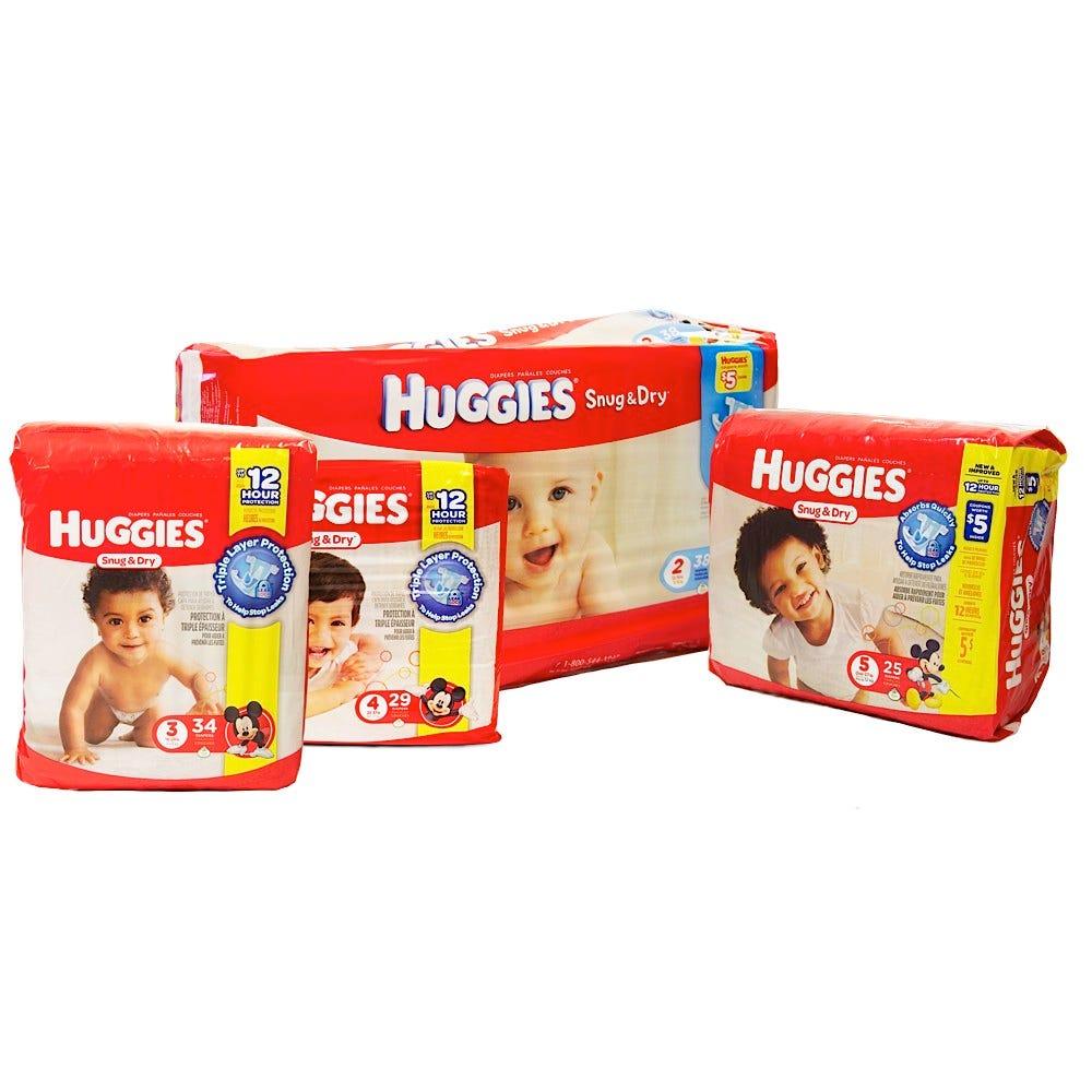 Huggies Snug & Dry Diapers in Packs