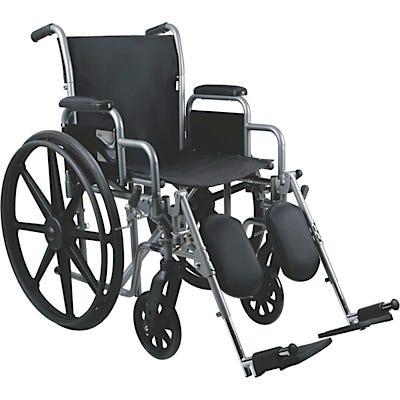 "School Health Economy Wheelchair 18"" with Detachable Elevating Leg Rests"