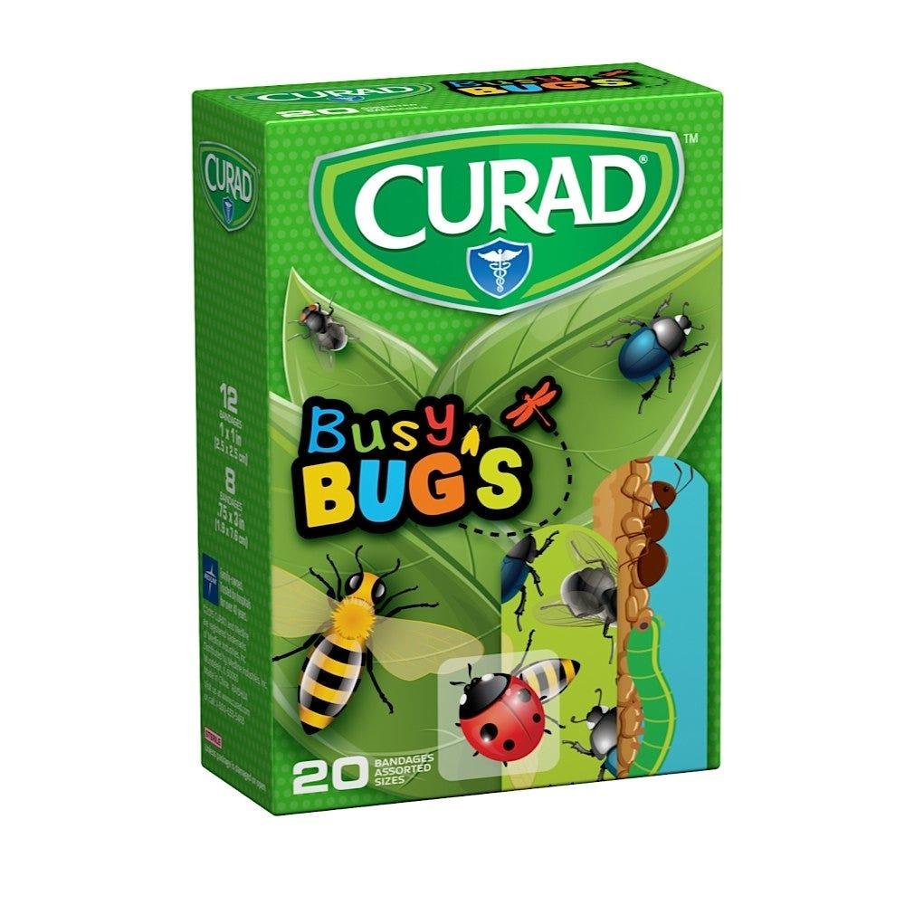 Curad Adhesive Bandages, BusyBugs - 20/box