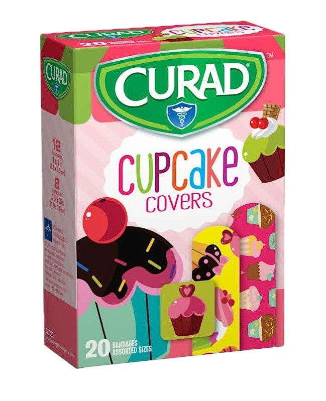 Curad Adhesive Bandages,Cupcake Covers - 20/box
