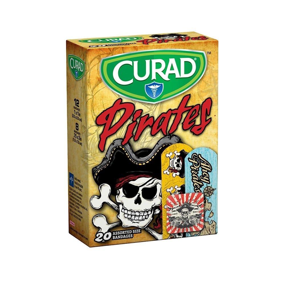 Curad Adhesive Bandages, Pirates - 20/box