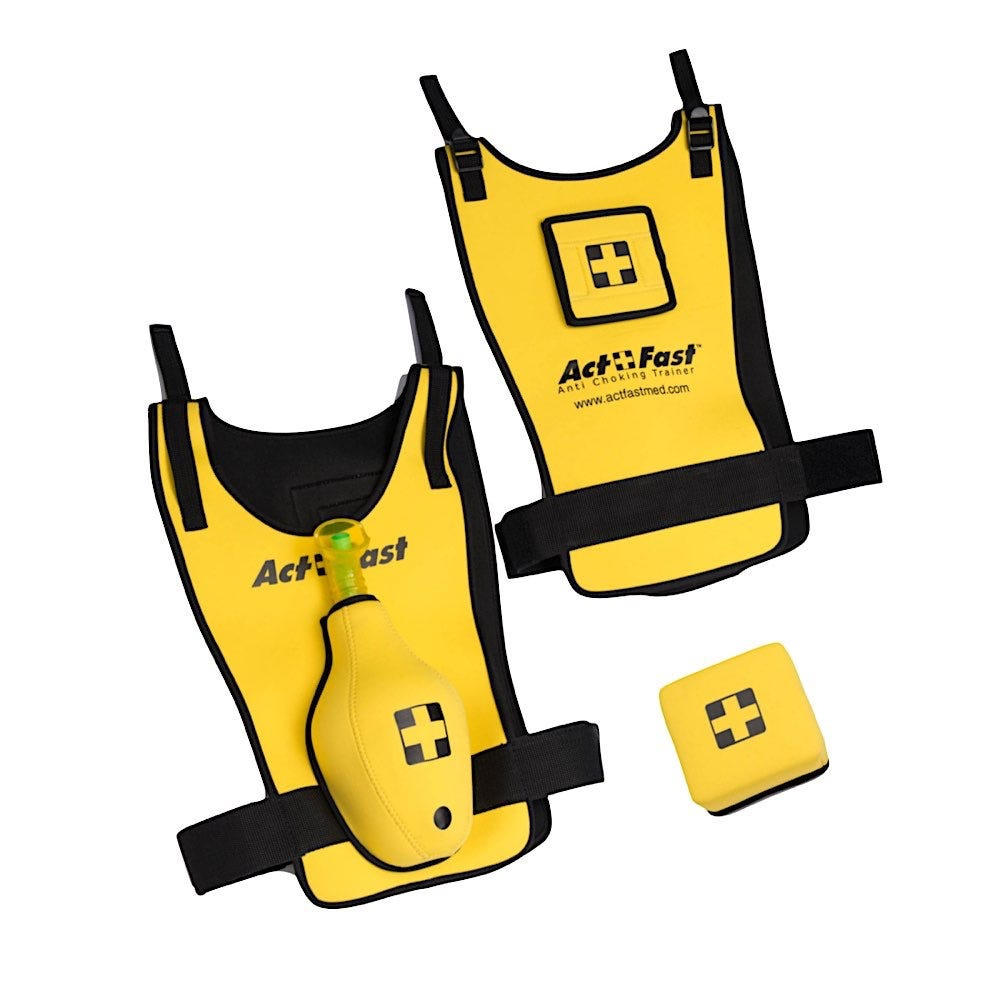 Act+Fast Medical Anti-Choking Yellow Trainer For School Age Children - Single