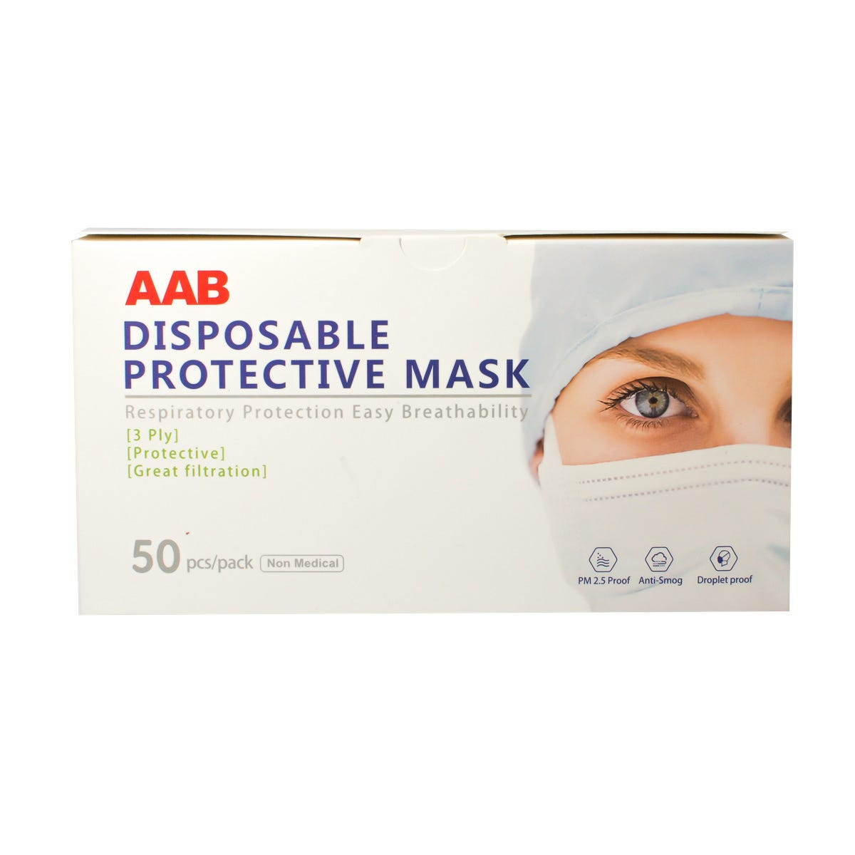 Adult 3-Ply Face Mask, 50/Box