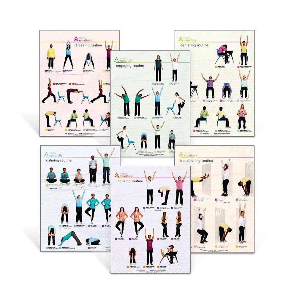 Move Mindfully Yoga Poster Set