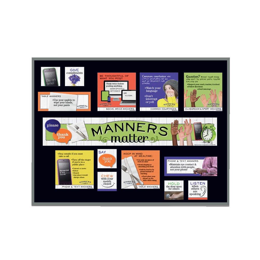 Manners Matter Bulletin Board Kit