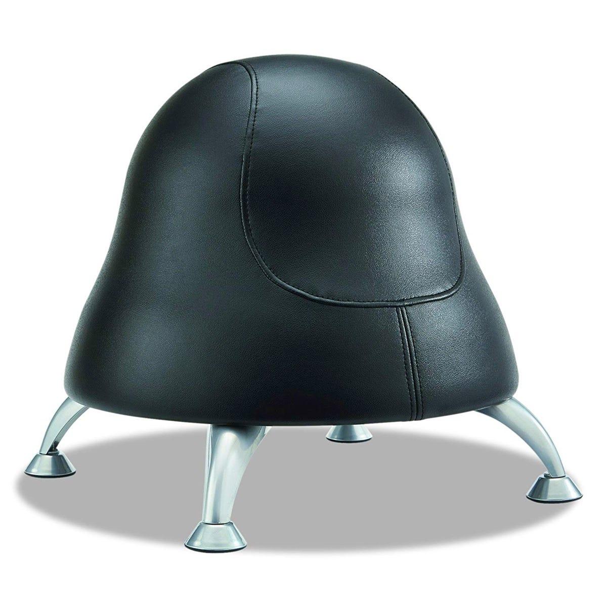 Runtz Black Vinyl Ball Chair
