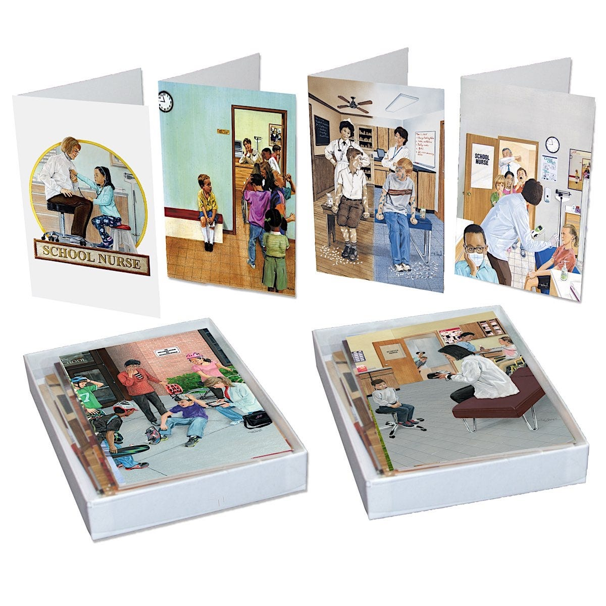 Day in the Life of a School Nurse Correspondence Cards, 11/Box