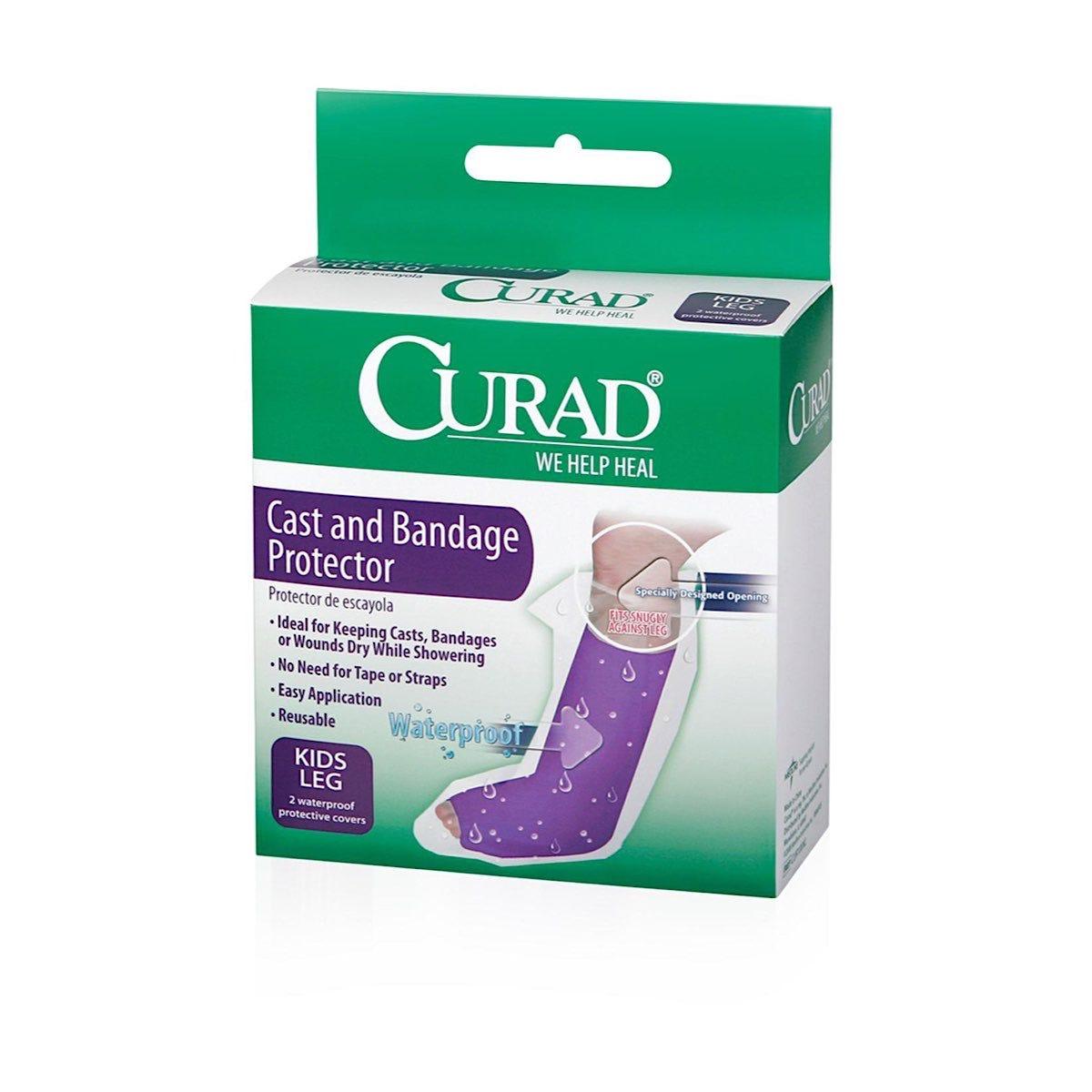 Curad Leg Protector Cast and Bandage Protector, Child, 2/box