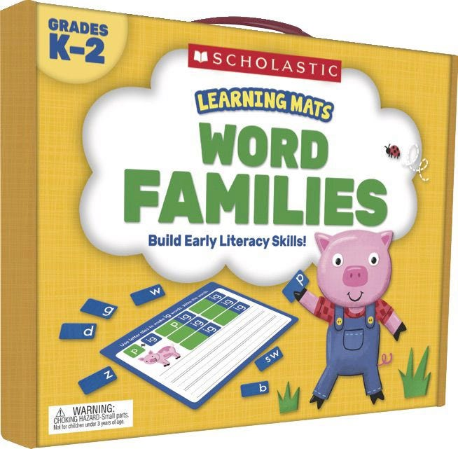 Word Families Learning Mats