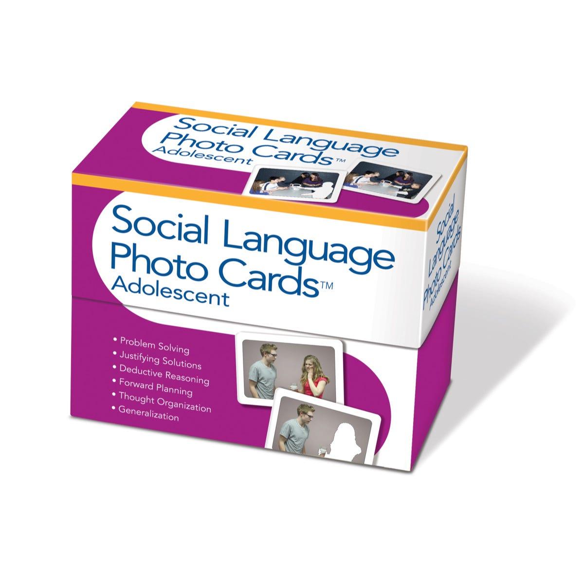 Social Language Photo Cards Adolescent