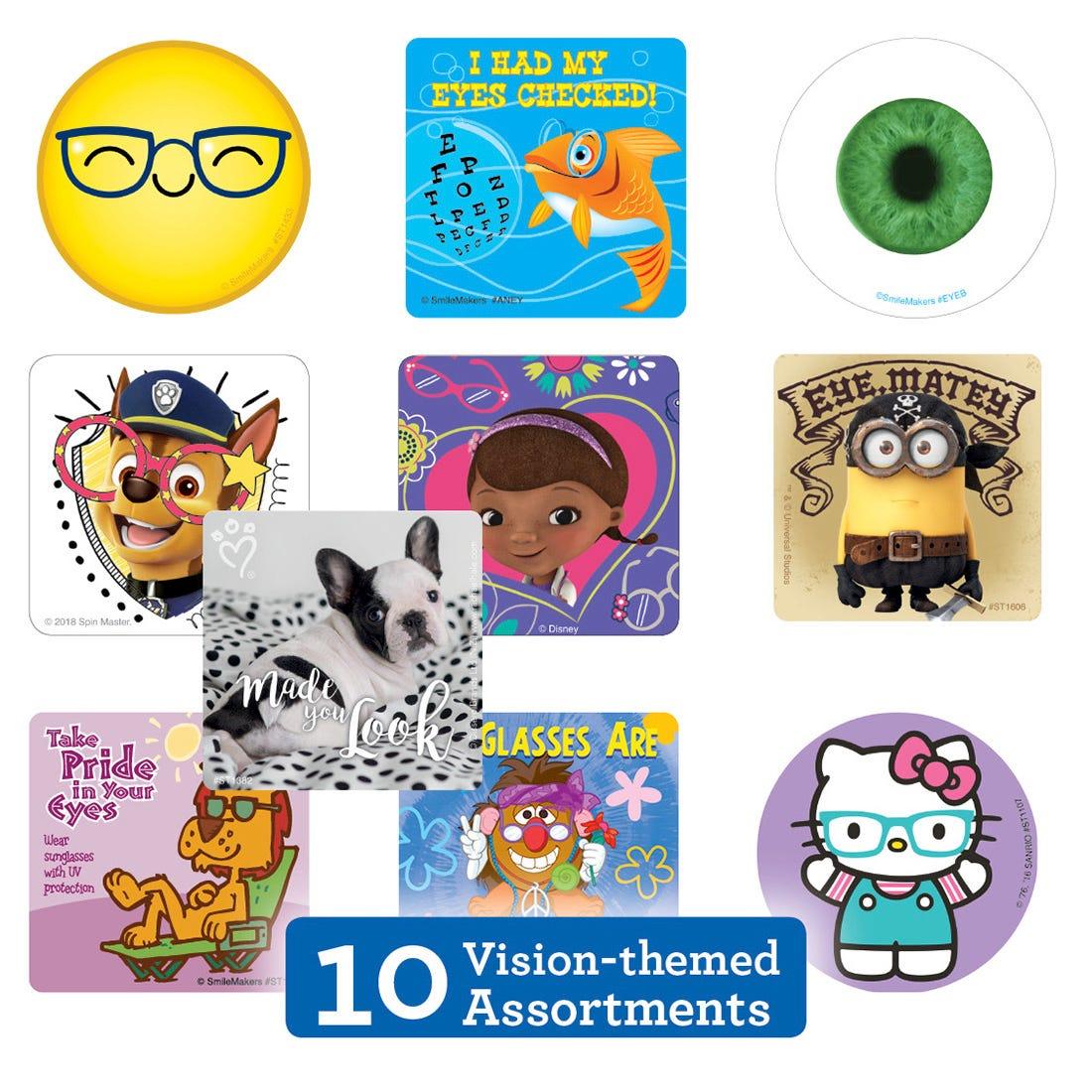 Eye Care Sticker Sampler