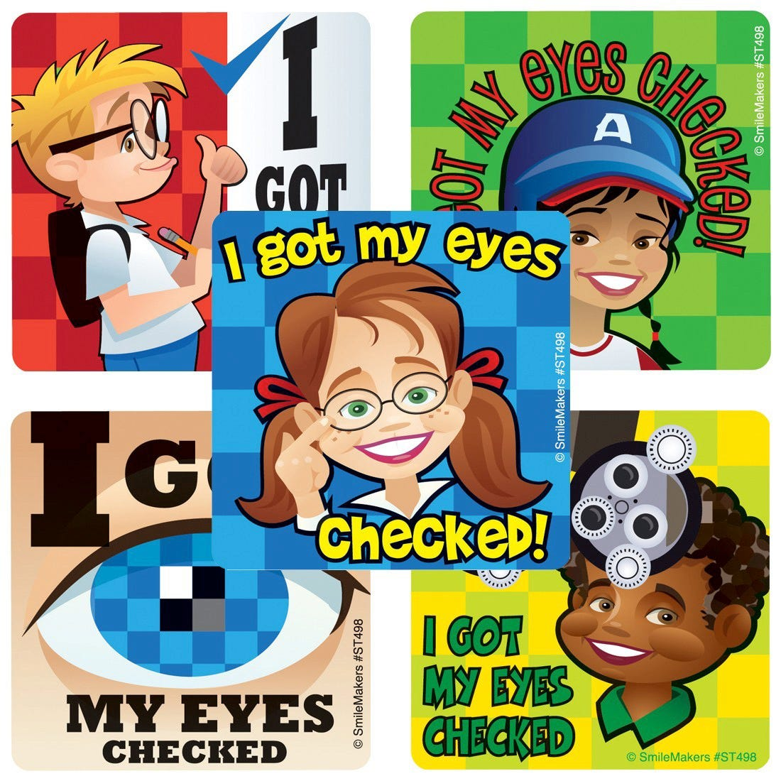 Got My Eyes Checked Stickers