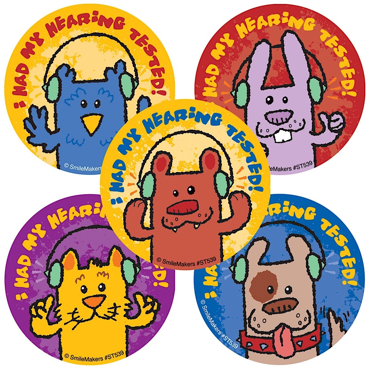 Animal Hearing Check Stickers