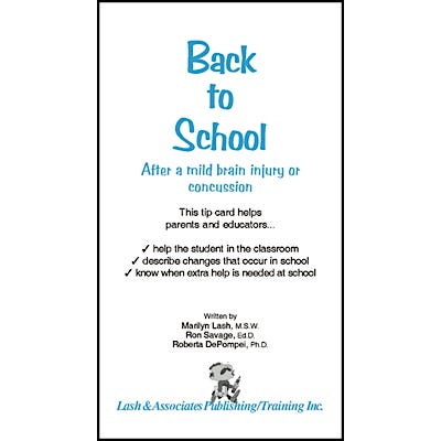 Back To School After a Mild Brain Injury or Concussion