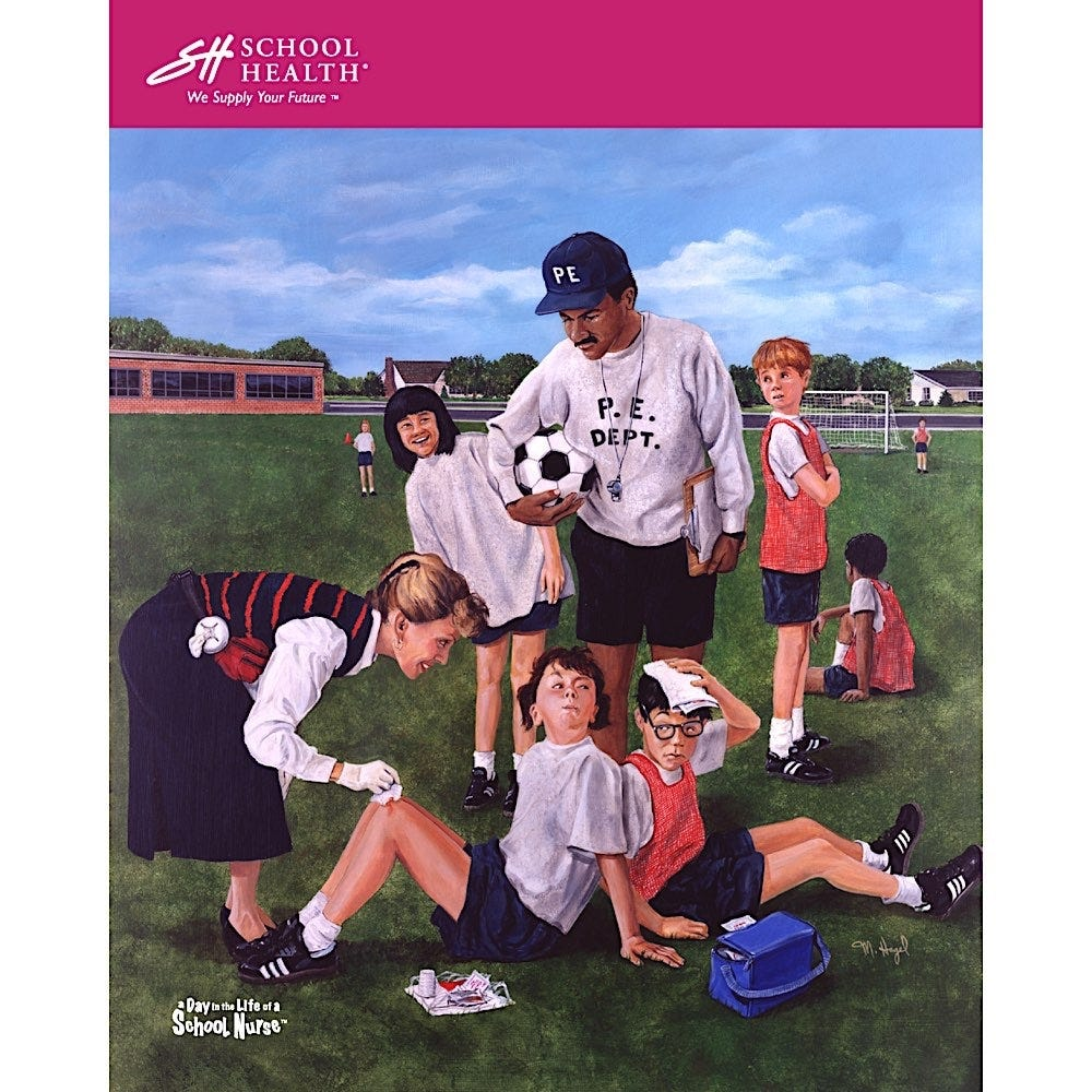 1995 School Health Catalog Cover Poster Series