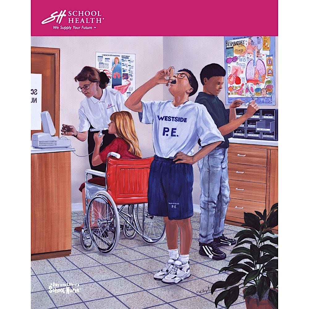 1997 School Health Catalog Cover Poster Series