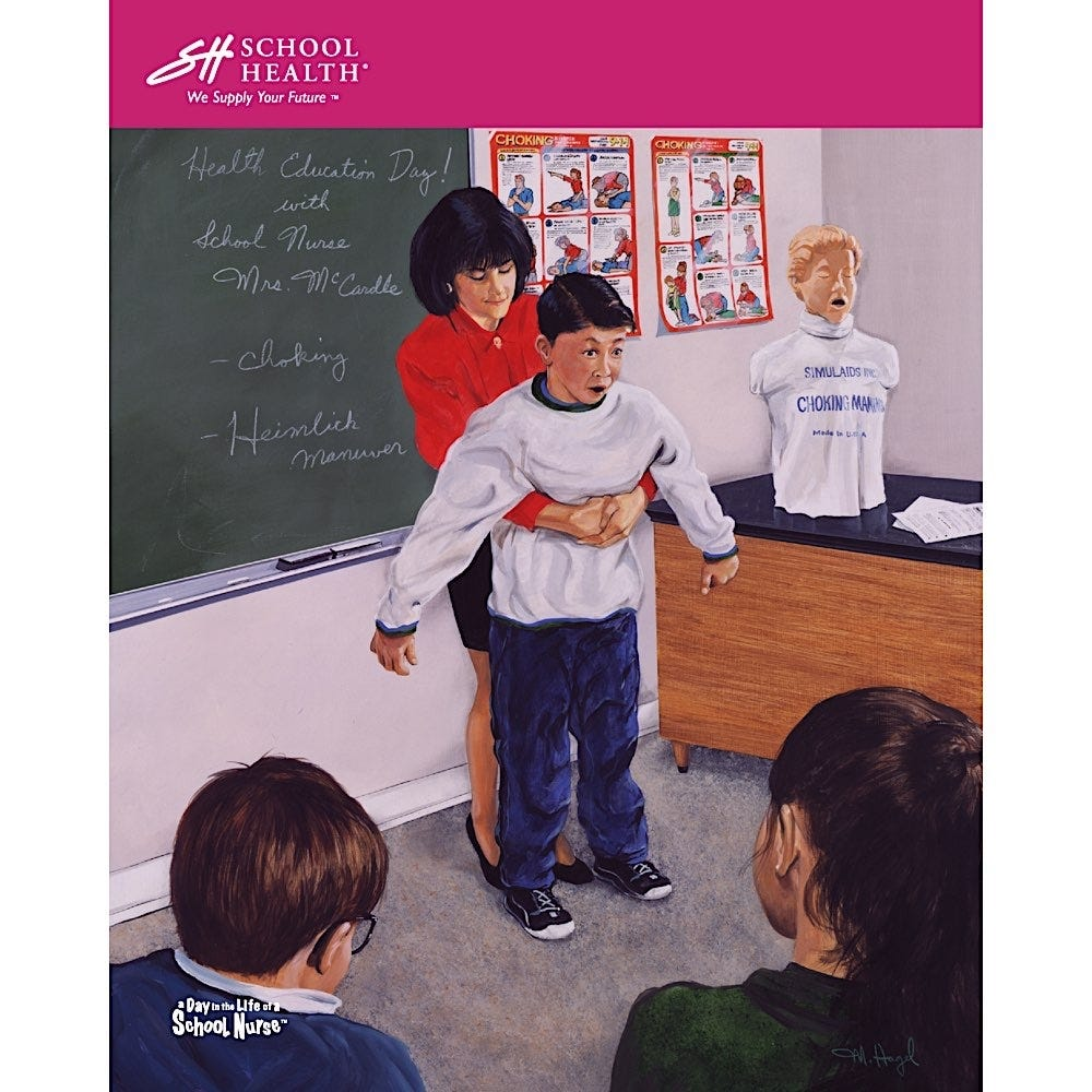 1998 School Health Catalog Cover Poster Series
