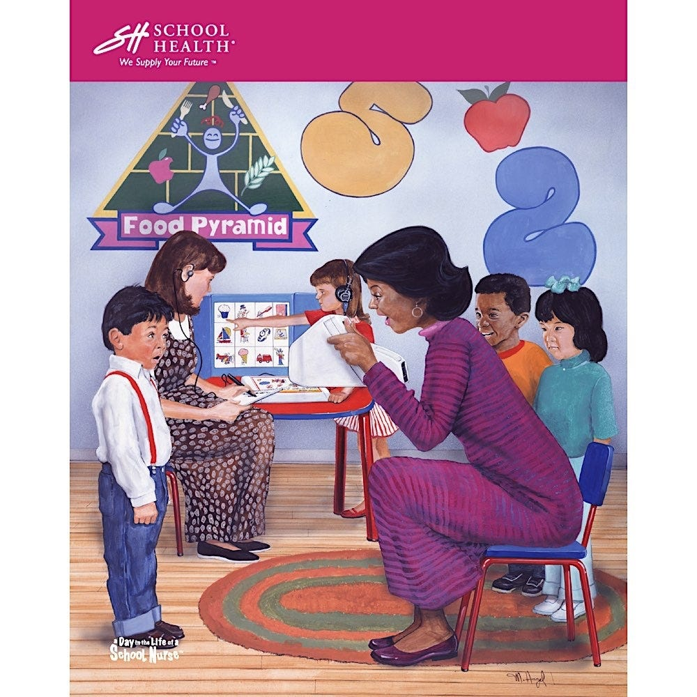 1996 School Health Catalog Cover Poster Series