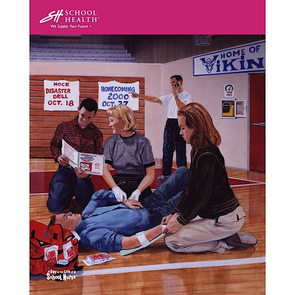 2000 School Health Catalog Cover Poster Series