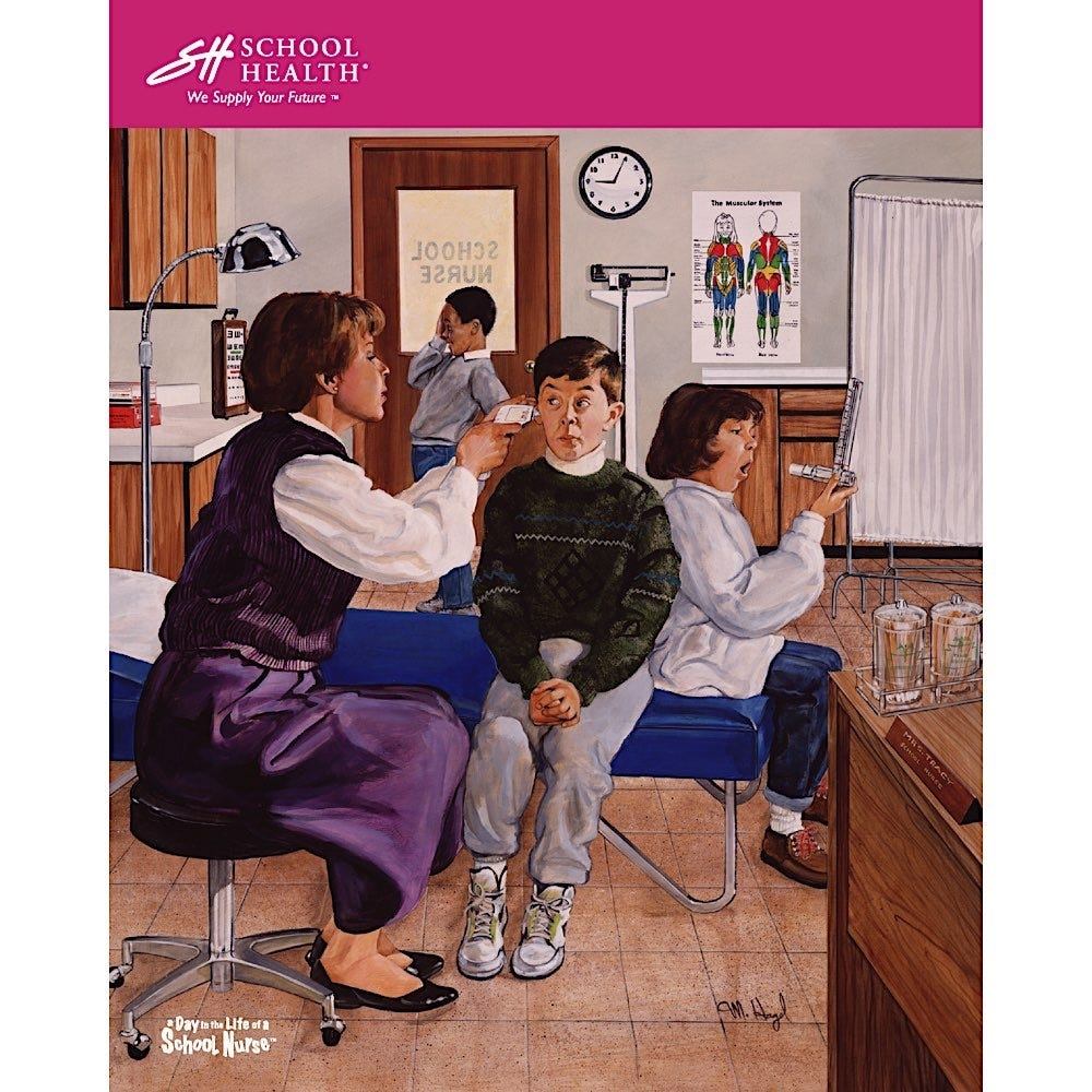 1992 School Health Catalog Cover Poster Series