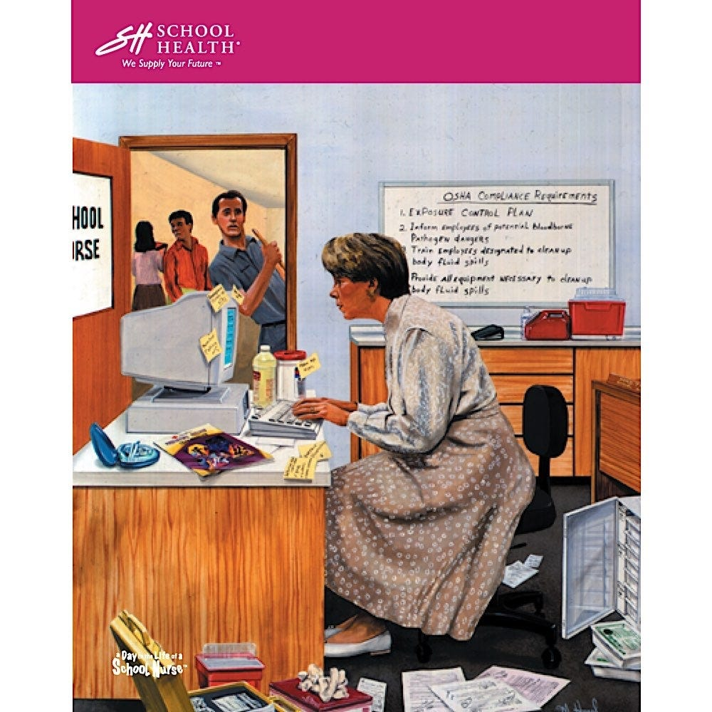 1994 School Health Catalog Cover Poster Series