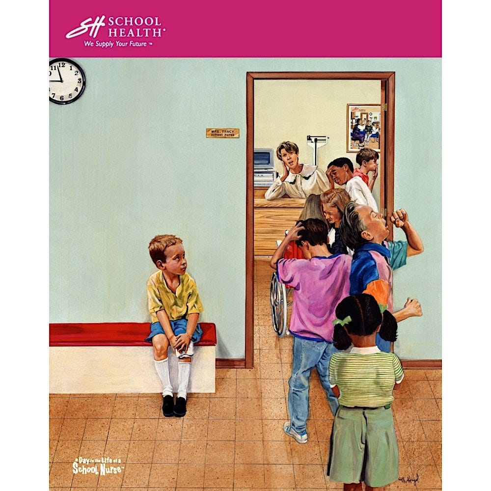 1993 School Health Catalog Cover Poster Series