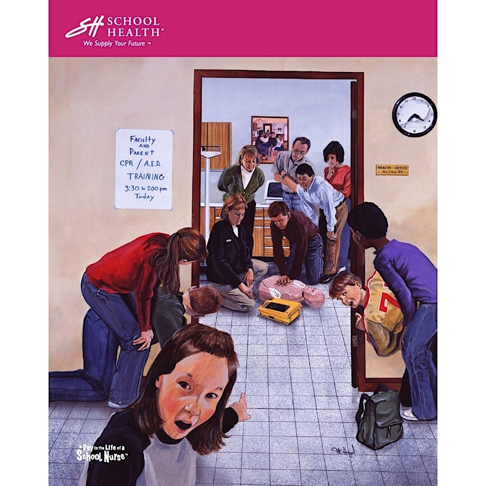 2001 School Health Catalog Cover Poster Series