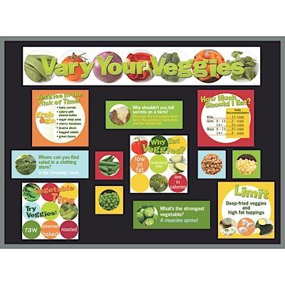 Vegetables Bulletin Board Kit
