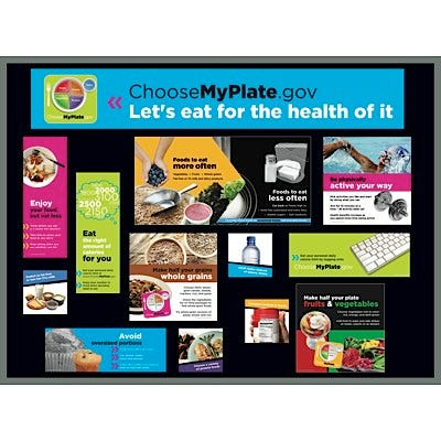 USDA MyPlate Bulletin Board Kit