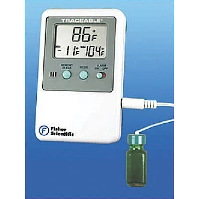 Digital Refrigerator/Freezer Thermometer with Alarm