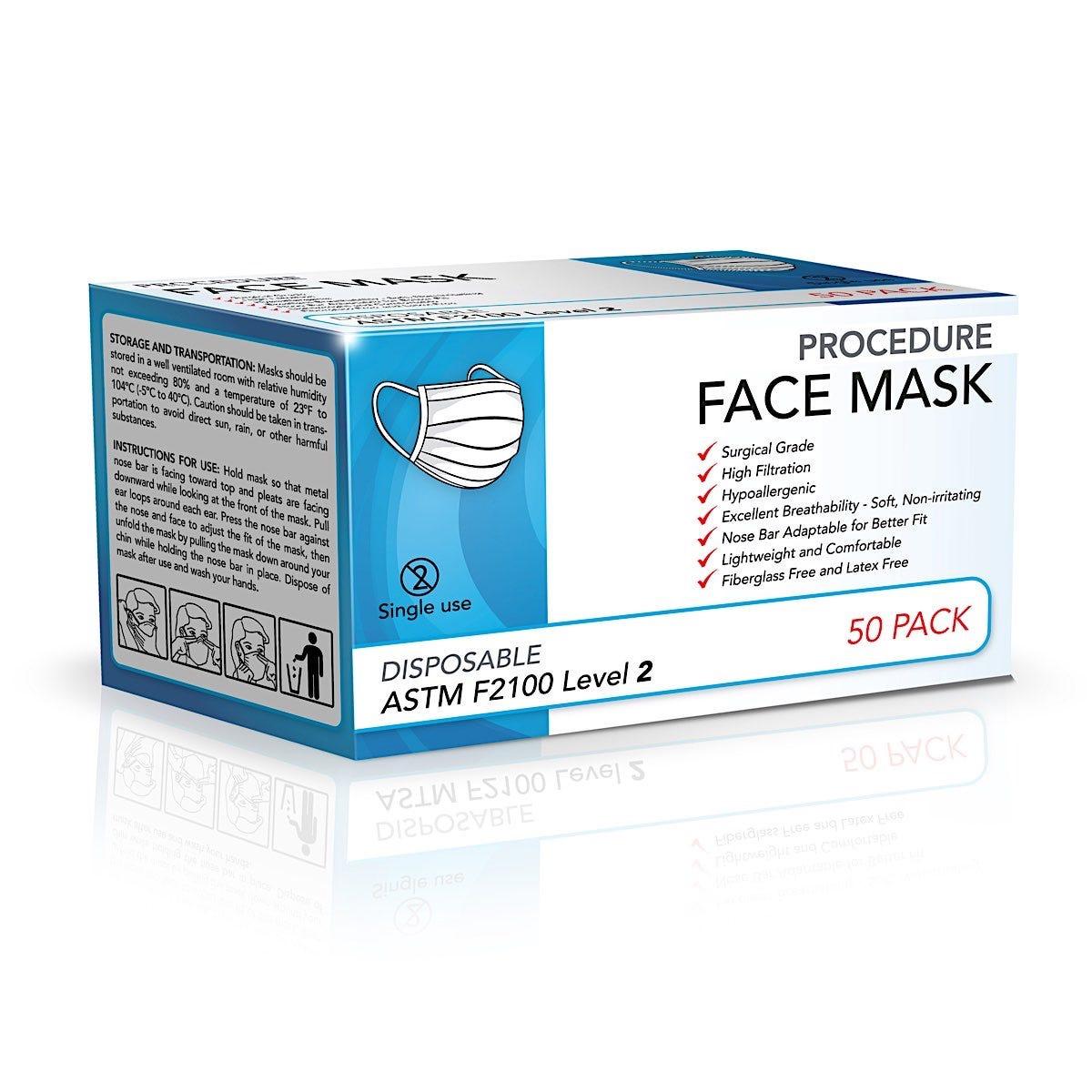 Level 2 Medical Face Mask, 50/Box