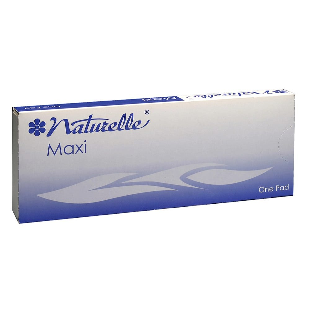 """Naturelle Maxi Pads #8,  8"""" x 3-1/4"""" x 7/8"""" (For Use in the 22014 Vending Machine) 250/Case"""