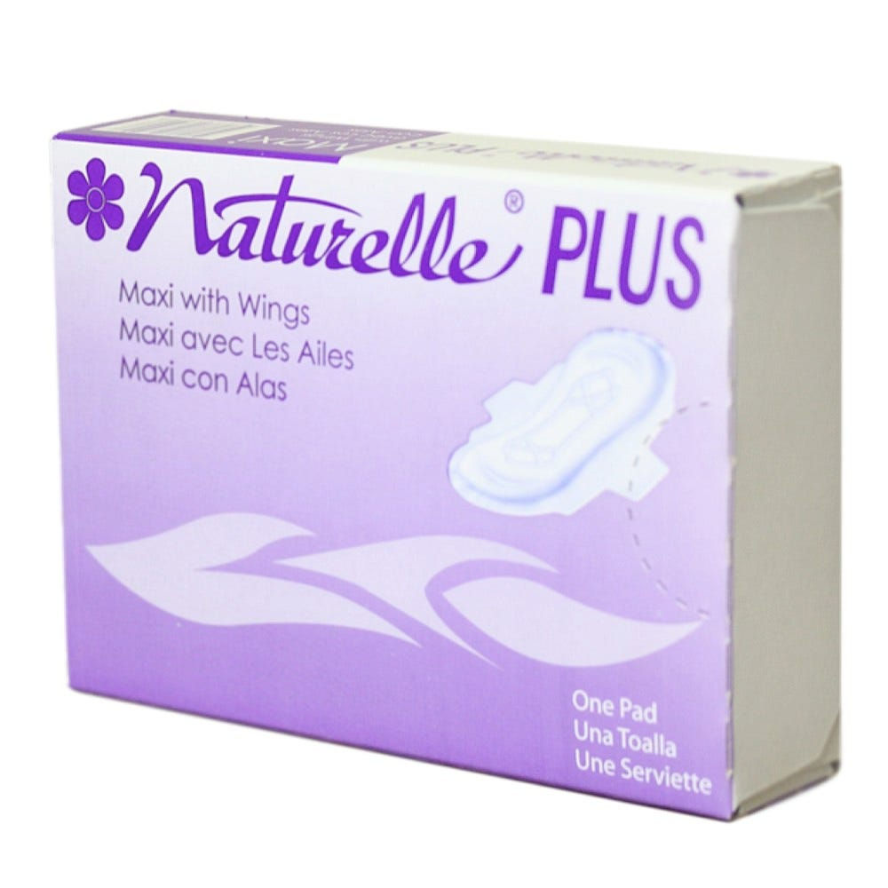 """Naturelle Plus Maxi Pads, #4,  3"""" x 4-1/4"""" x 1-1/8"""" (For Use in the 22000 Vending Machine) 250/Case"""
