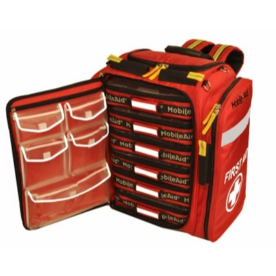 MobileAid Professional Trauma First Aid Backpack