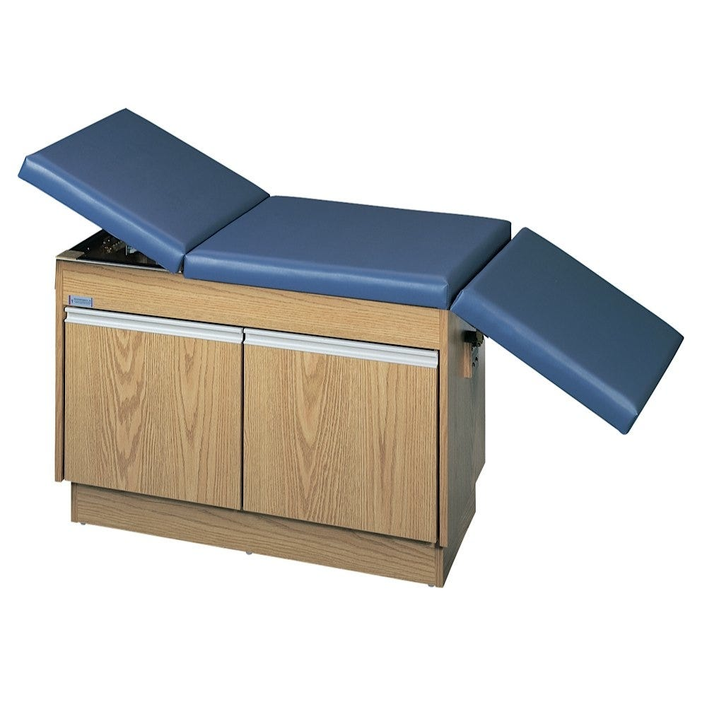 """Deluxe Space-Saver Exam Table with Adjustable Backrest and Footrest 68""""L x 24""""W x 30""""H"""