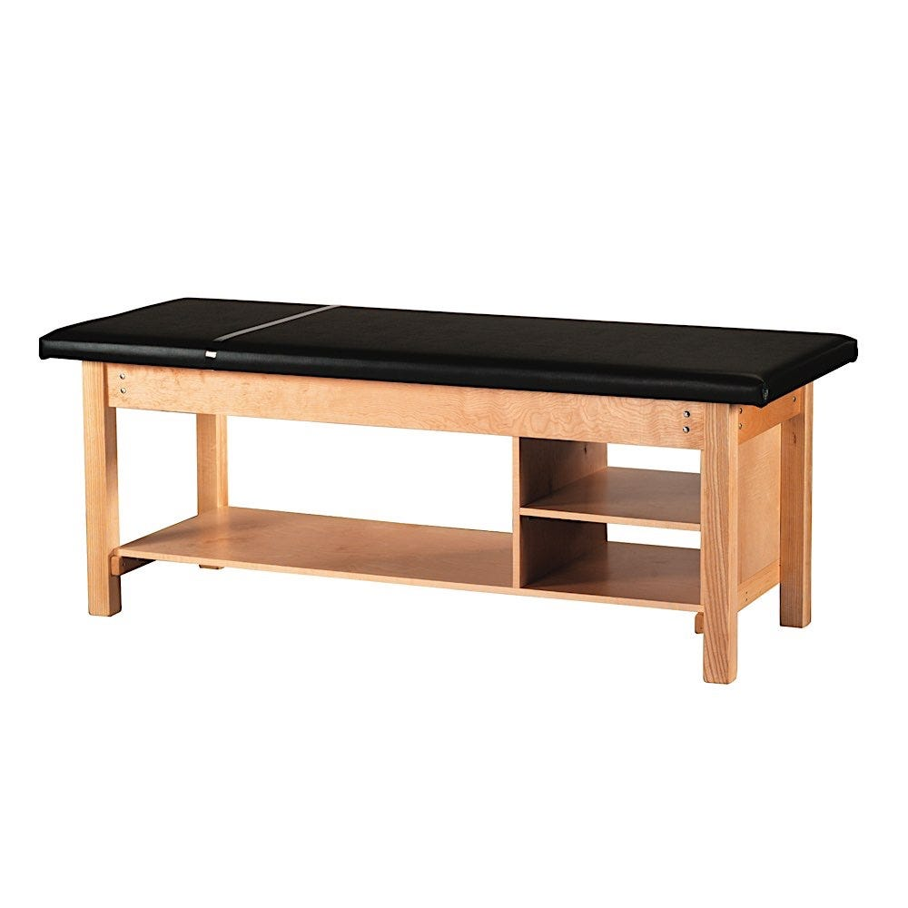 """S Professional Treatment Table 30""""W with Two Fixed Shelves"""