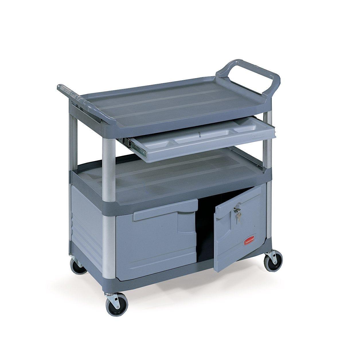 Rubbermaid Instrument Cart, Gray