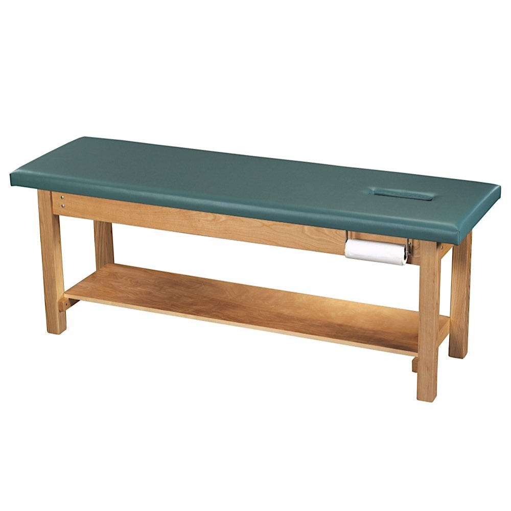 """S Professional Treatment Table 24""""W with Face Cutout"""