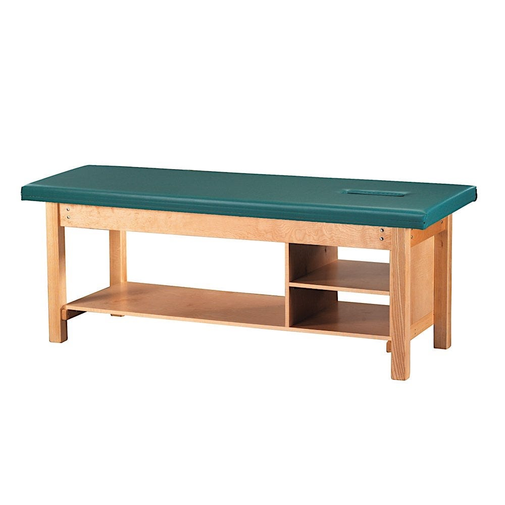 """S Professional Treatment Table 30""""W with Face Cutout"""