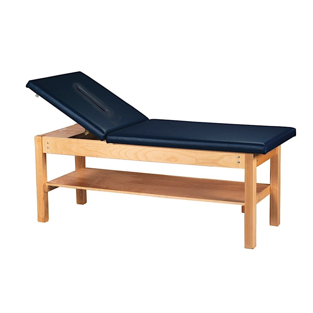 """S Professional Treatment Table 24""""W with Backrest and Face Cutout"""