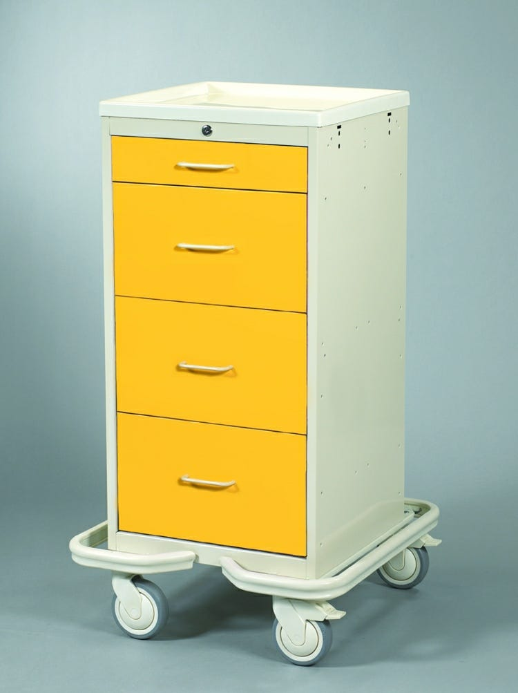 Four-Drawer Mini Tower Isolation Cart