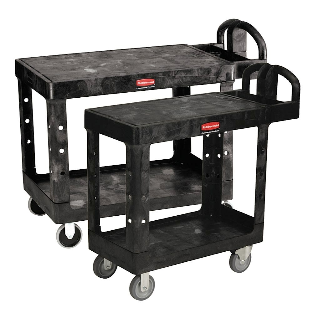 Rubbermaid Flat Shelf Carts