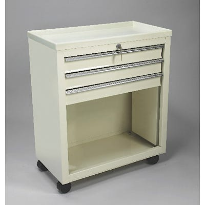 3-Drawer Cart with Key Lock, Beige