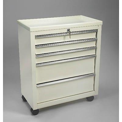 5-Drawer Cart with Key Lock, Beige