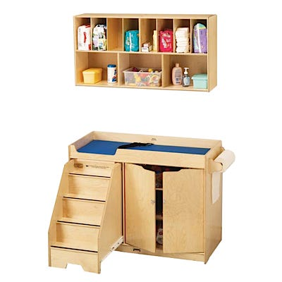 Changing Table and Diaper Organizer