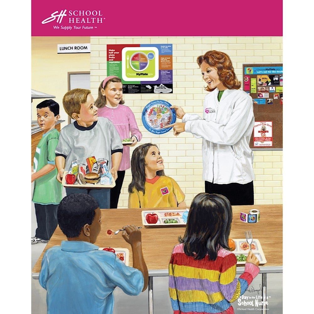 2012 School Health Catalog Cover Poster
