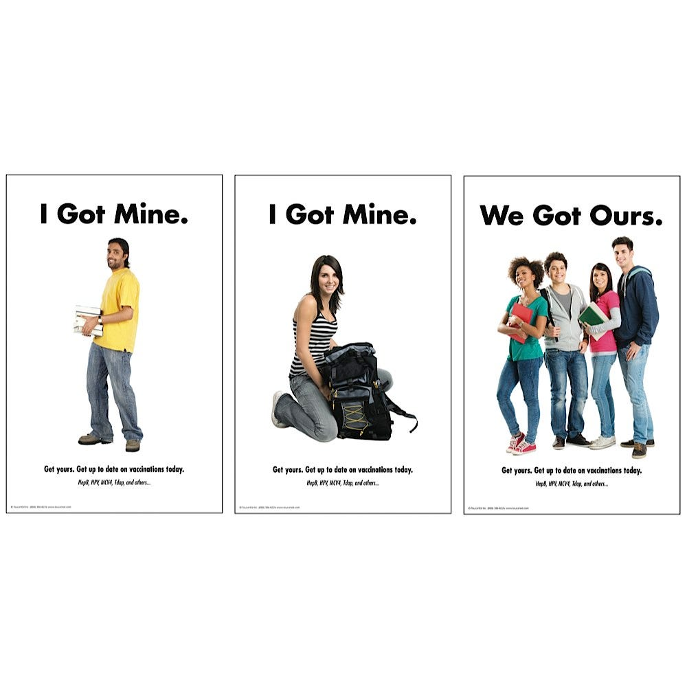 """Vaccine Posters 11"""" x 17"""", Laminated"""