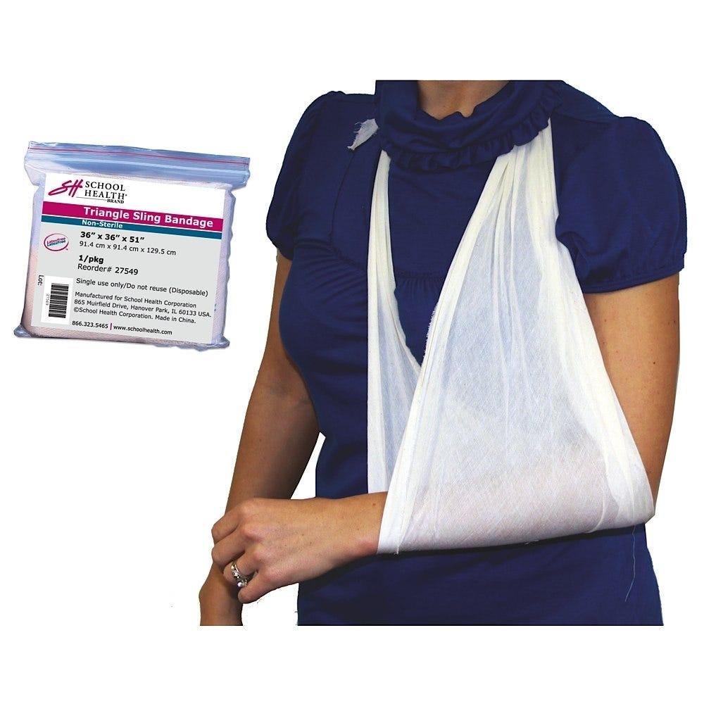 """School Health Triangle Bandage Arm Sling, 36"""" x 36"""" x 51"""""""
