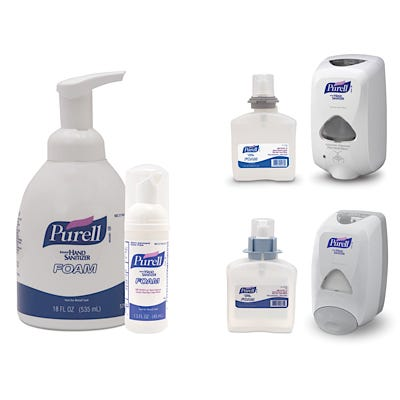 Purell Instant Hand Sanitizer Foam 1200 mL Refill and FMX-12 Dispenser
