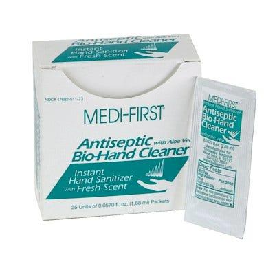 Medi-First Antiseptic Hand Sanitizer 1.68 mL 25/Box